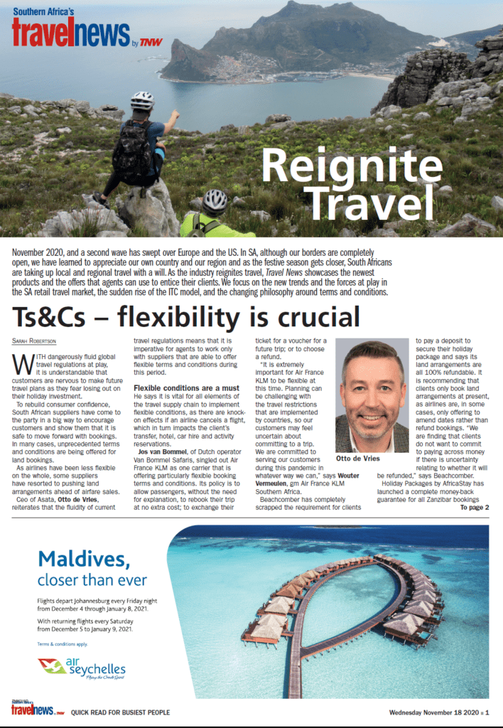 ASATA in the news: Ts&Cs flexibility is crucial 1