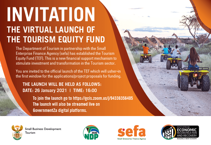 Invitation: Tourism Equity Fund Launch - 26 January 2021 1