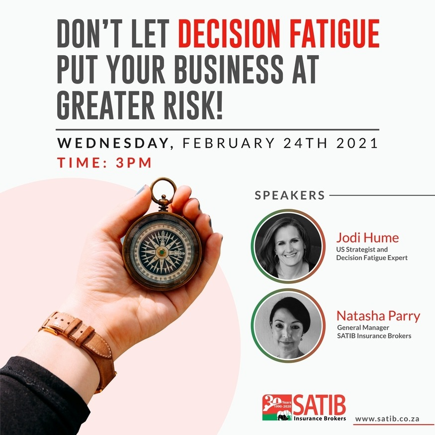 Webinar: Don't let Decision Fatigue put your business at greater risk 1